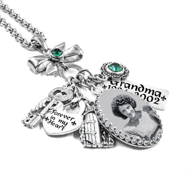 Personalized Memorial picture necklace