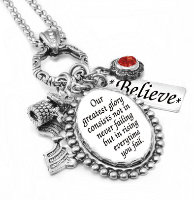 quote necklace stainless steel