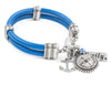 Nautical Leather Charm Bracelet