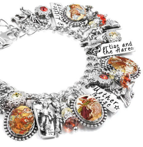 mother goose vintage images bracelet