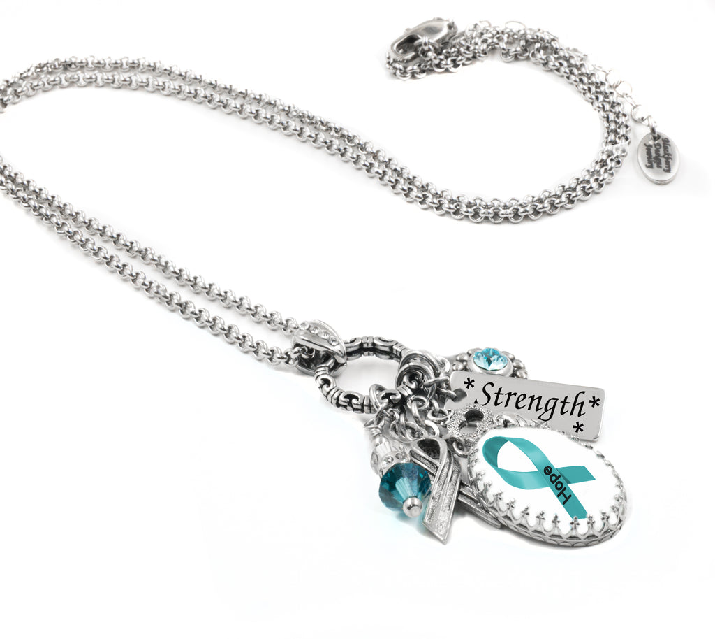 Ovarian Cancer Awareness Necklace Blackberry Designs Jewelry