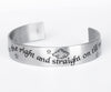 Cuff Bracelet Peter Pan Quote in Stainless Steel