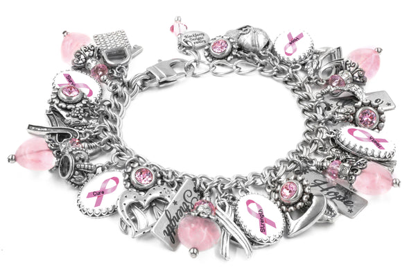 awareness jewelry, breast cancer, pink ribbon