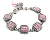 October Pink Swarovski Crystal Bracelet