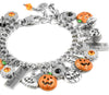 Pumpkin and Jack O Lantern Bracelet for Halloween and Autumn