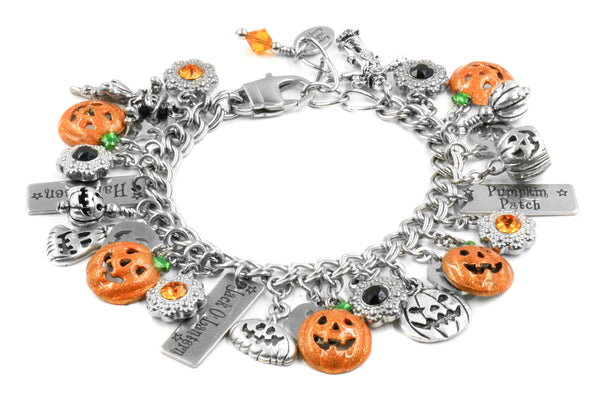 pumpkin and halloween bracelet