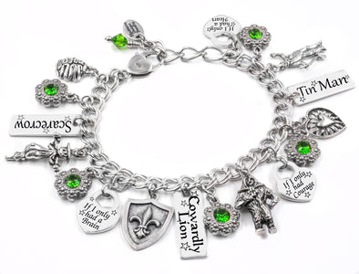 tin man bracelet, wizard of oz jewelry