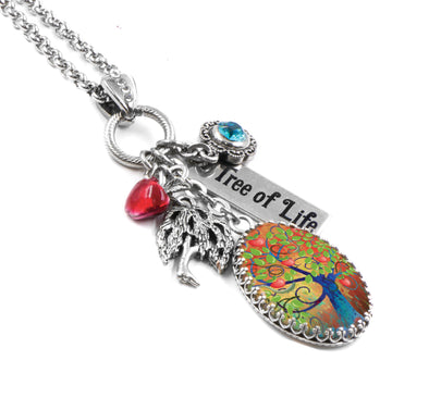 personalized tree of life necklace
