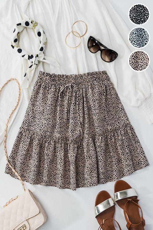 Adrienne Cheetah Skirt