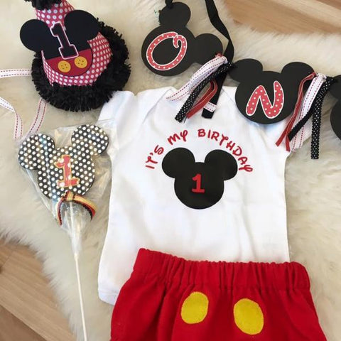 Its My Birthday Mickey Mouse Bodysuit