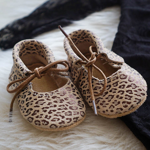Leopard Mary Jane Moccasins