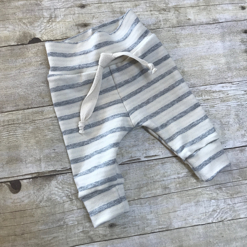 French Terry Striped Leggings,