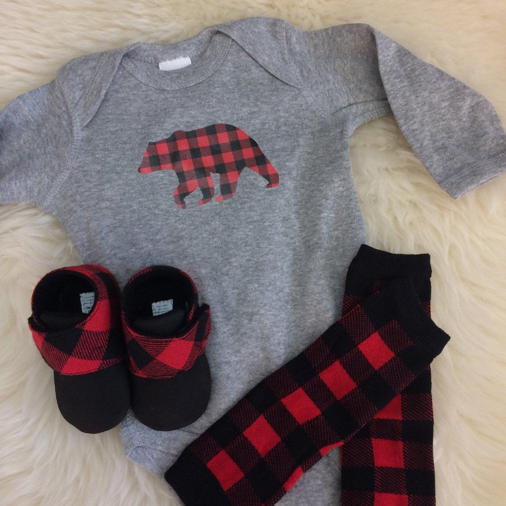 Plaid Bear Onesie
