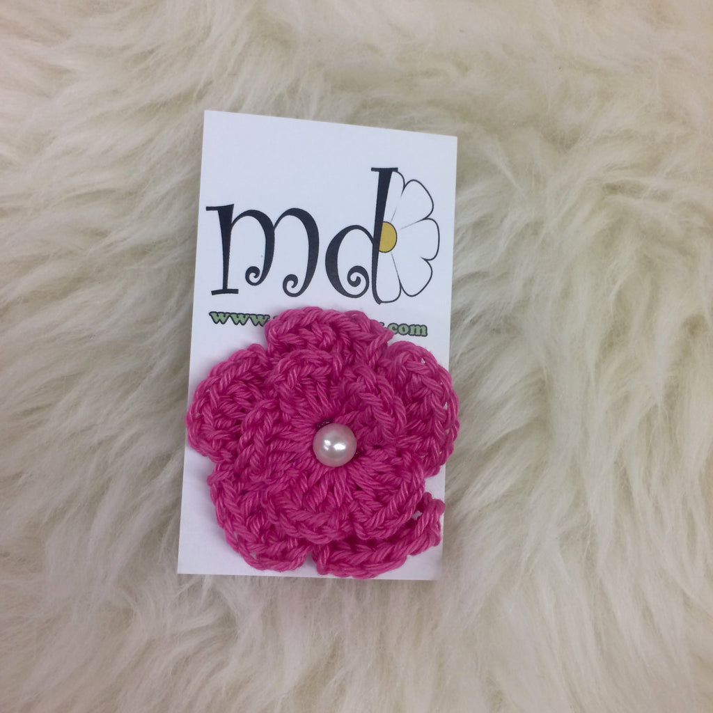 Crochet Flower Clippy