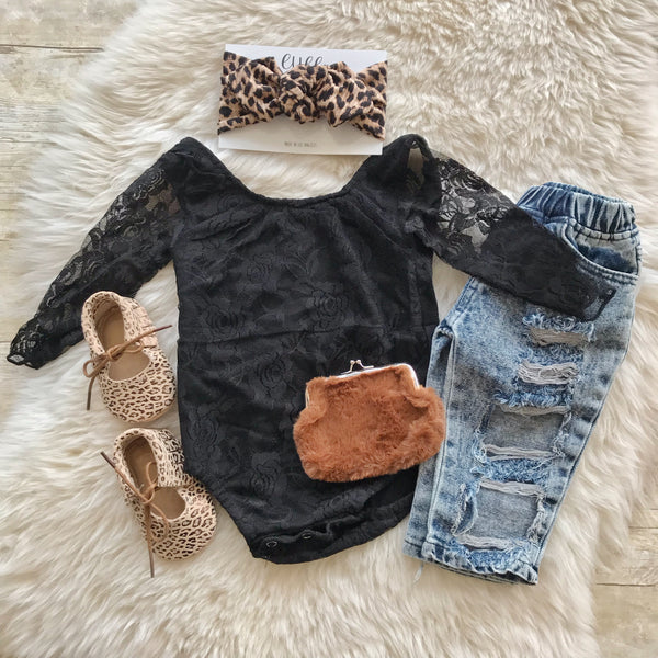 Victoria Black Lace Bodysuit