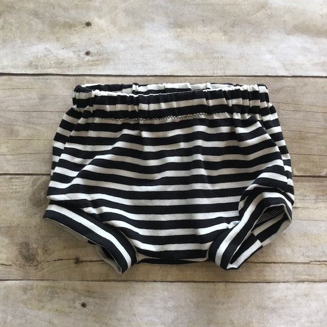 Black/Cream Stripe Bummies