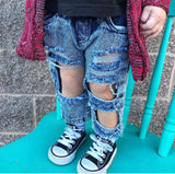 Stonewash Distressed Jeans