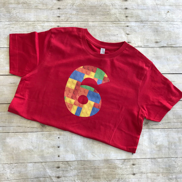 6th Lego Birthday Shirt
