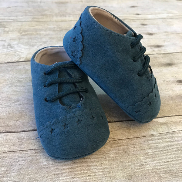 Faux Suede Wingtip Shoes
