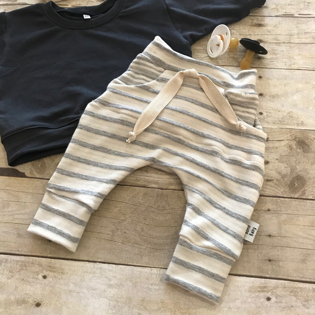 Cream Stripe Jogger