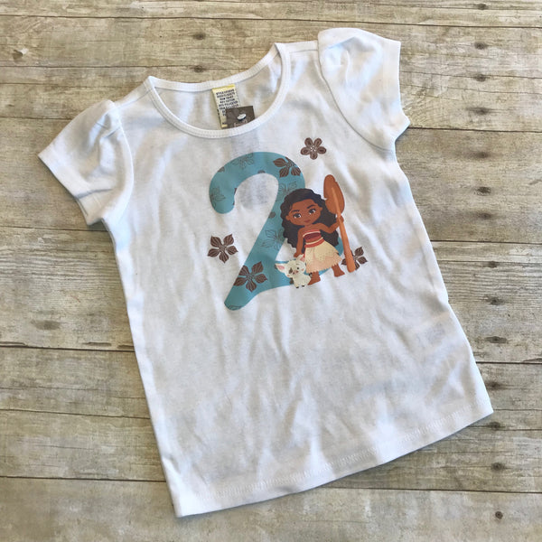 2nd Birthday Moana Shirt