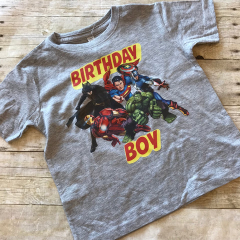 Avengers Birthday Boy Shirt