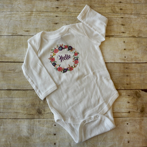 Sugarplum Garland Onesie