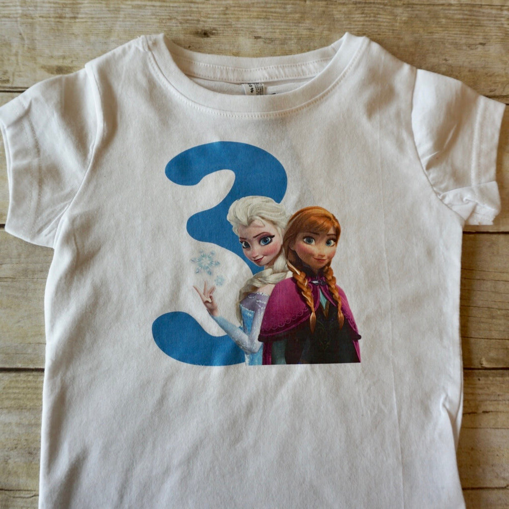 3rd Birthday Frozen Shirt