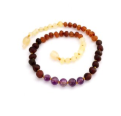 Amber with Precious Stone Necklace