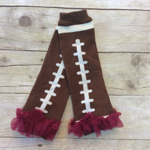Football Leg Warmers With Chiffon