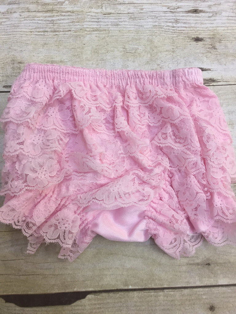 Pink Lace Ruffled Bloomers