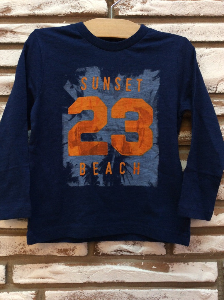 Navy Sunset Beach Tee