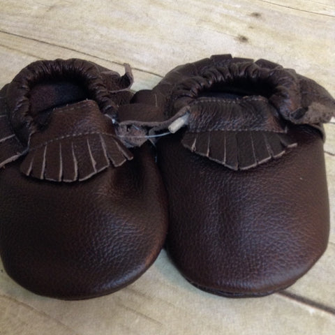 Brown Fringe Moccasins
