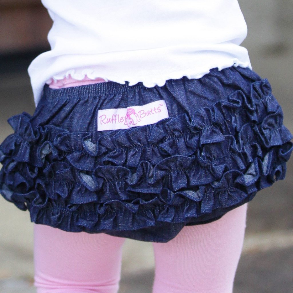 Dark Denim Ruffle But