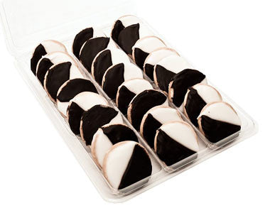24 Pack - Mini Black and White Cookies from The Black and White Cookie Company