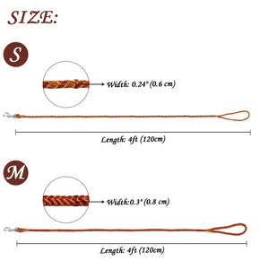 Premium Round Braided Dog Leash