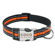 Load image into Gallery viewer, Anti-lost Reflective Nylon Custom Dog Collar
