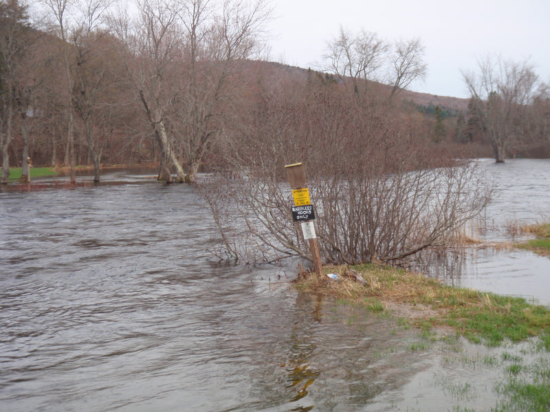 high water on the magalloway river in western maine