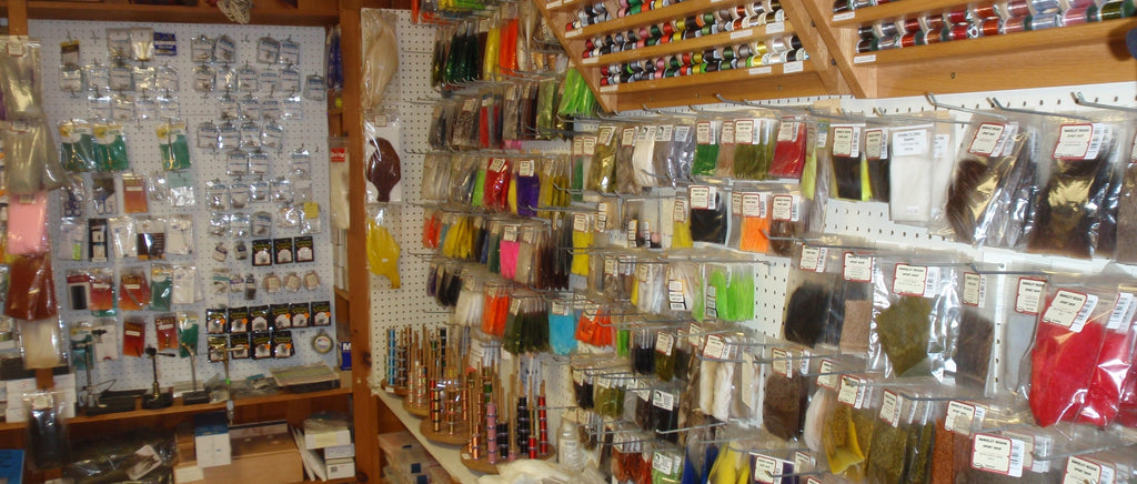 inside of a maine fly shop