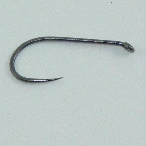 a barbless fly fishing hook used by competitive anglers