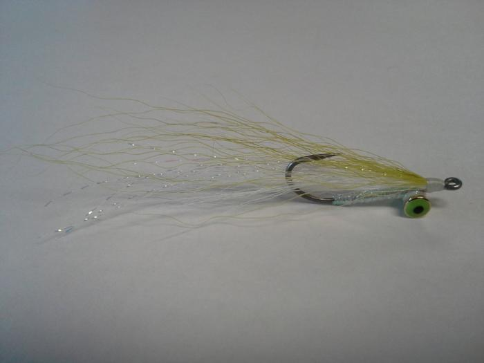 Clouser saltwater fly weighted from the Rangeley Region Sport Shop