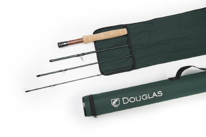 Douglas DXF fly rod with rod sock and tube rangeley maine fly shop