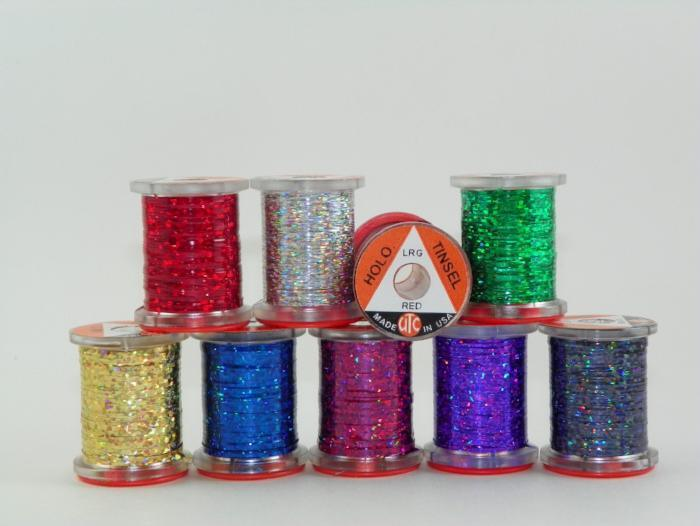 Holographic Tinsel from Rangeley Maine fly fishing shop