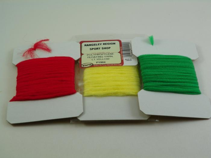 polypropylene floating yarn from Rangeley Maine fly fishing shop