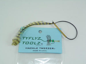 tyflyz toolz hackle pliers from Rangeley Maine fly fishing shop