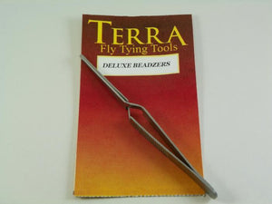 Beadzer tool from Terra Used for picking up beads for easy placement on a hook when tying flies