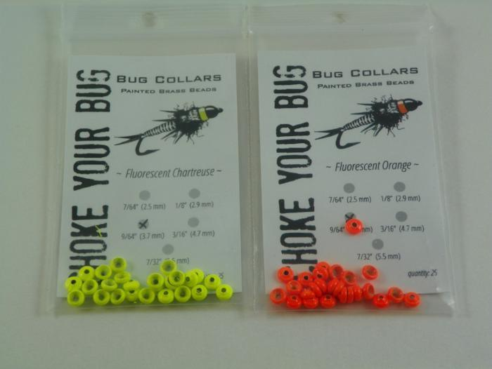A Hot spot bug collar that fits snuggly up against the bead when creating fishing flies