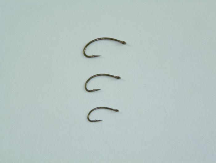 Mustad C49S curved nymph 25 ct from Rangeley Maine fly fishing shop
