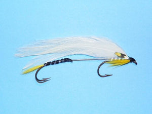 Black ghost tandem fly for trolling the lakes of western Maine