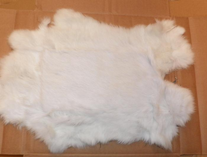 whole rabbit skin from Rangeley Maine fly fishing shop